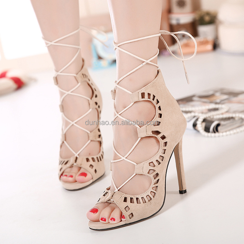 Fashion women shoes 2016 Female Sexy Dress ladies flat Thin high Heels