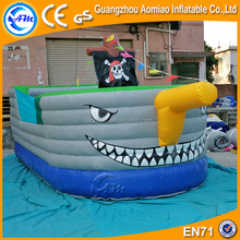 Customized halloween pirate ship inflatable jumper bouncers for kids