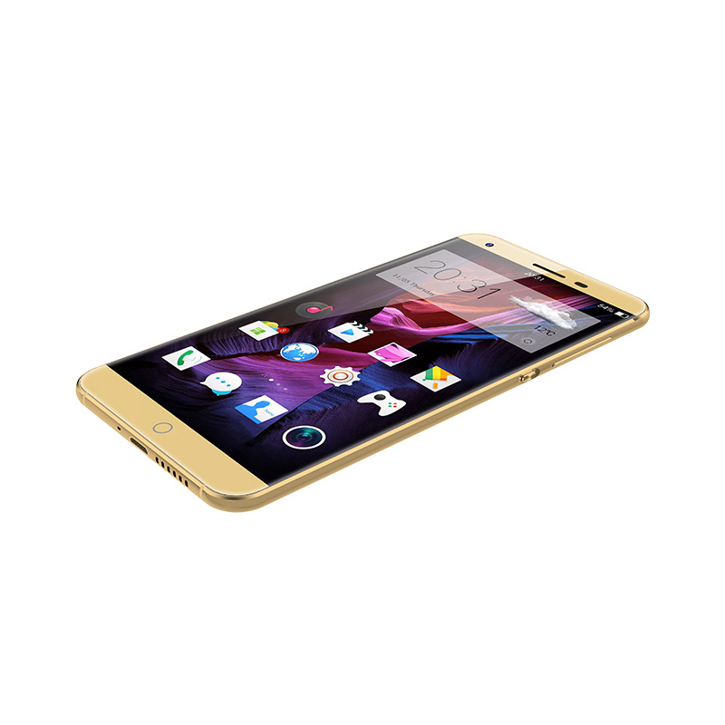 Gold Color 5inch Glass MTK6735 4G Lte Smartphone for UAE