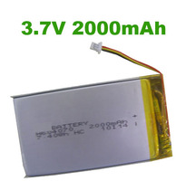 KPL604070 3.7V 2000MaH high capacity li-polymer battery with 1000cycles used for tablet pc mobile phone pos machine