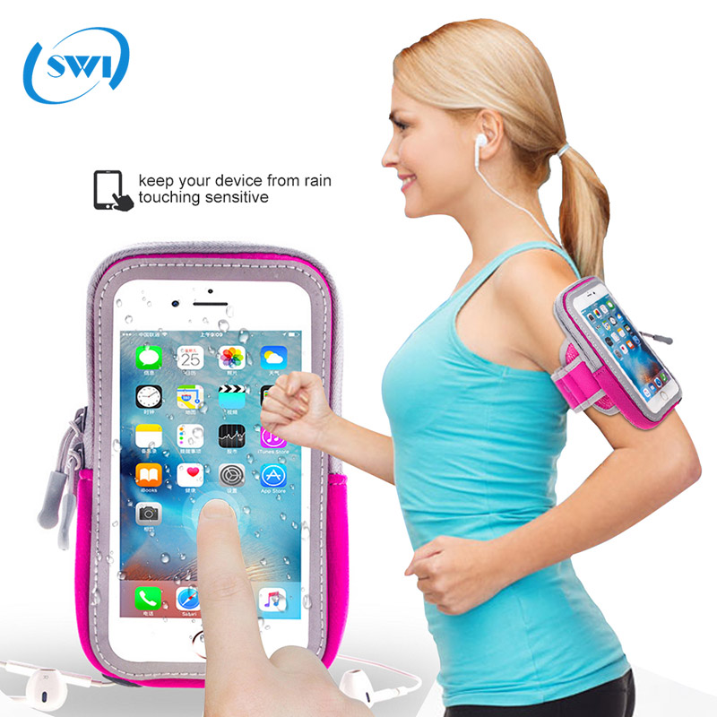 Mobile phone accessories ,Neoprene sport armband for iphone 7, for iphone 7 arm band mini sport bag