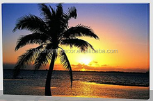 summer seascape palm tree led lighted picture canvas wall art decor