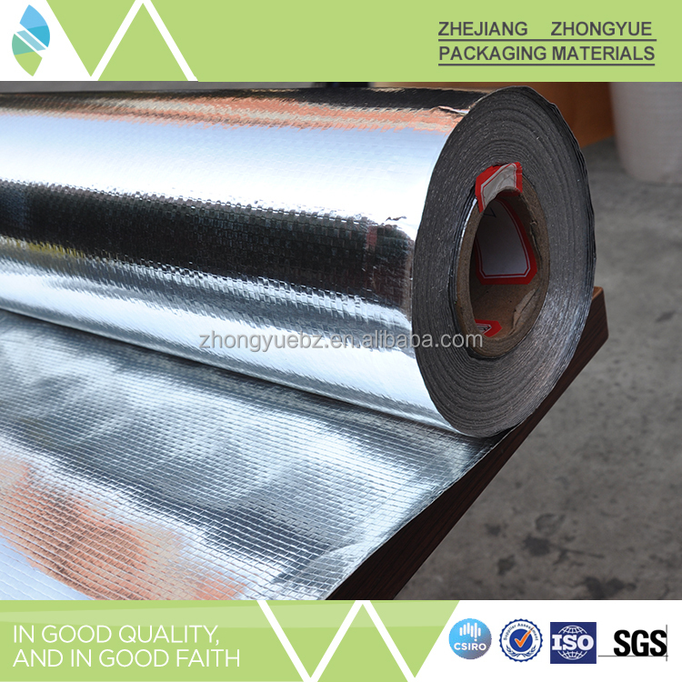 Double side aluminum foil laminated heat resistant ceiling material
