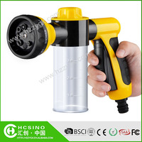 High pressure 8 settings foam spray nozzle water jet gun for car washing