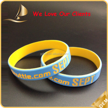 perfect usa customized professional DIY OEM Debossed ink filled printing full color silicone wristband gift