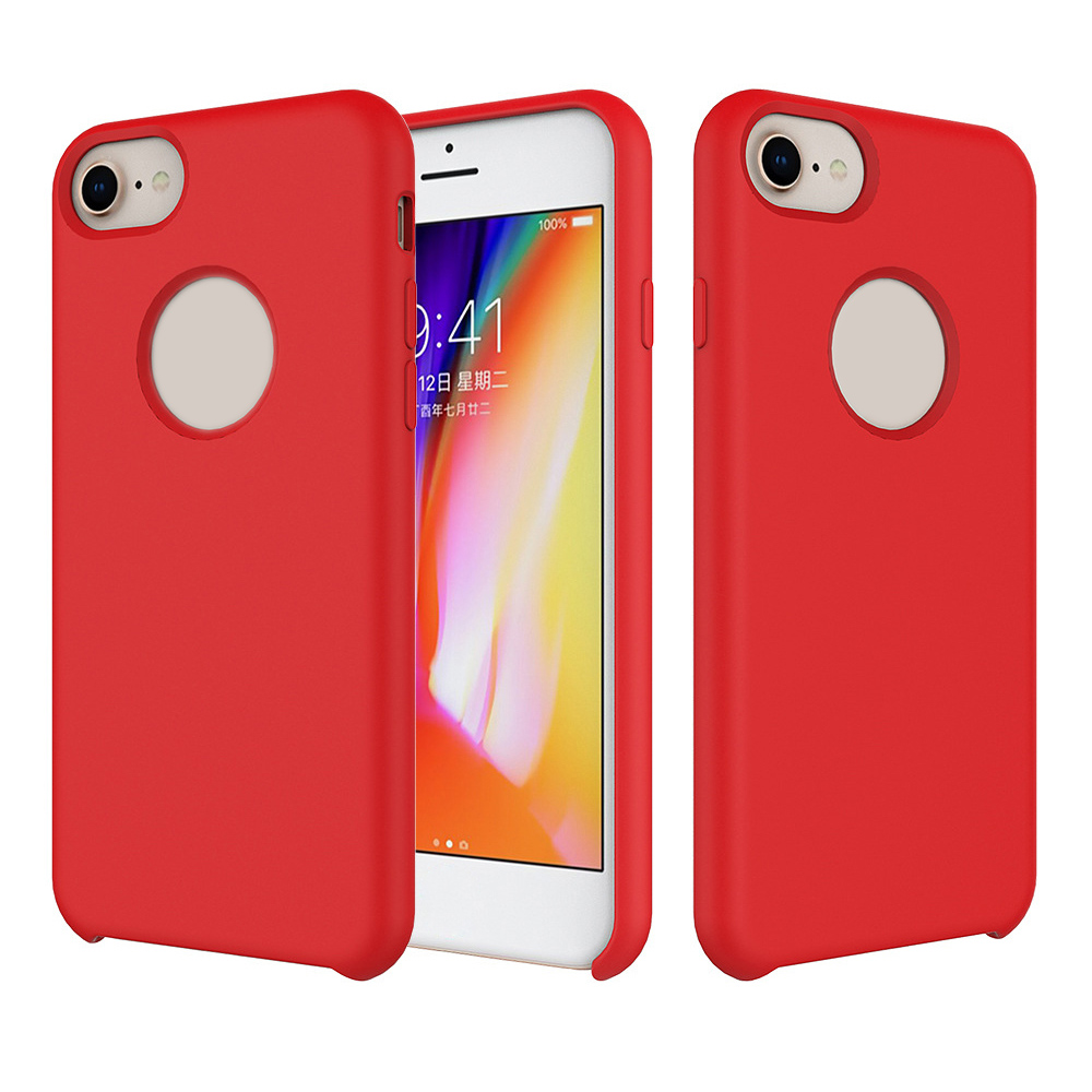 2018 Flexible Protective light up solid silicone shell mobile case phone cover for iphone