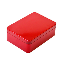 Multipurpose red tin canisters gift card tins wholesale metal box container with large stock ability