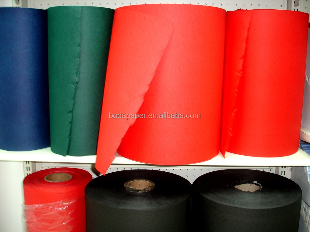 Raw materials solid color airlaid paper napkin roll
