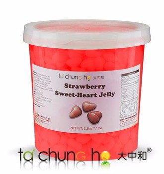 Best Selling Taiwan 3.2kg TachunGho Heart Shape Strawberry Jelly