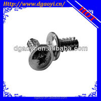 micro cheese head pozidrive machine screw with black zinc plated