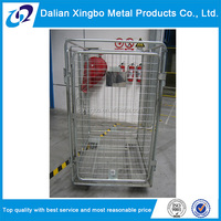 warehouse folding metal transport roller trolley