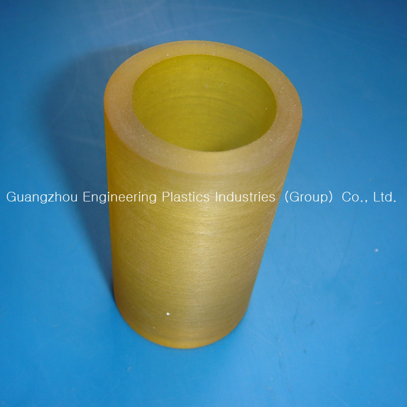 Customized cnc machined PU rubber bushing for machine parts PU rubber tube