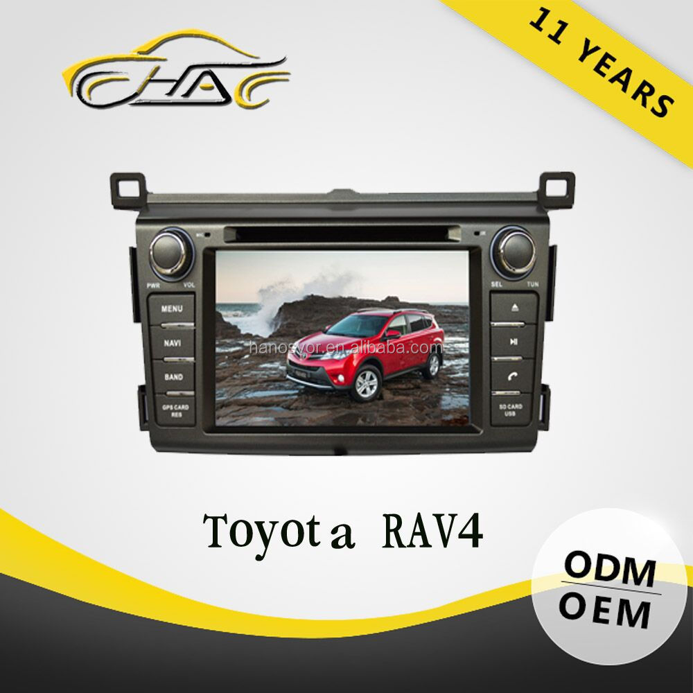 China factory for toyota rav4 dvd gps navigation with car radio FM AM