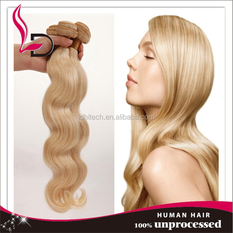 blonde peruvian virgin hair color 613 body wave,grade 5A,100% unprocessed weave,fast delivery by <strong>Dhl</strong>