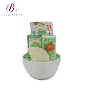 Luxury ceramics personal care bath set gift