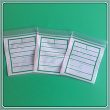 China Manufacturer Plastic Pharmacy Zipper Pouches