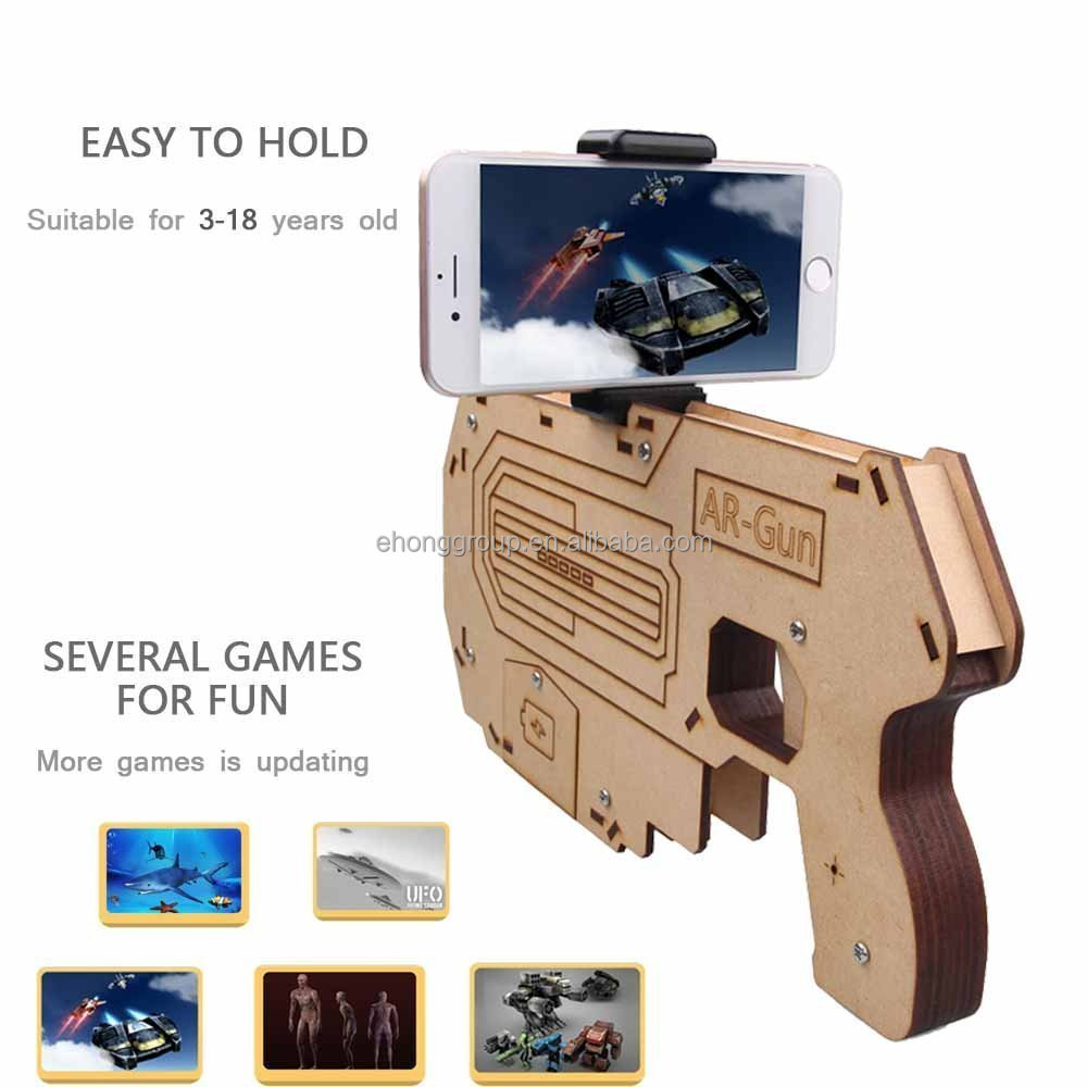 AR Attack Assembled Augmented Reality AR Toy Gun Bluetooth AR-Gun for 3D VR Games Game Pad Suit for IOS Android Smart Phone