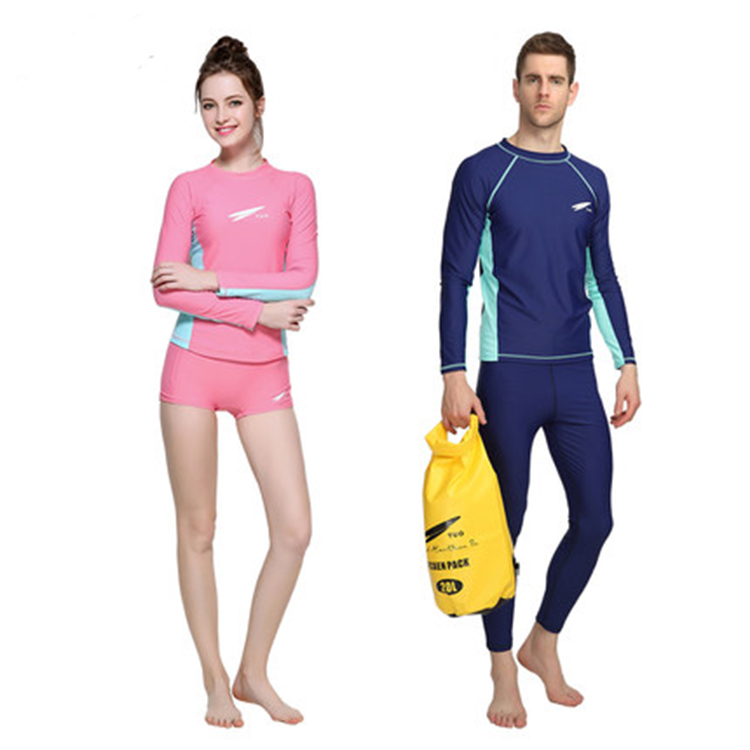 OEM UPF 30 Fashionable Sublimated Rash Guard For Snorkeling Diving