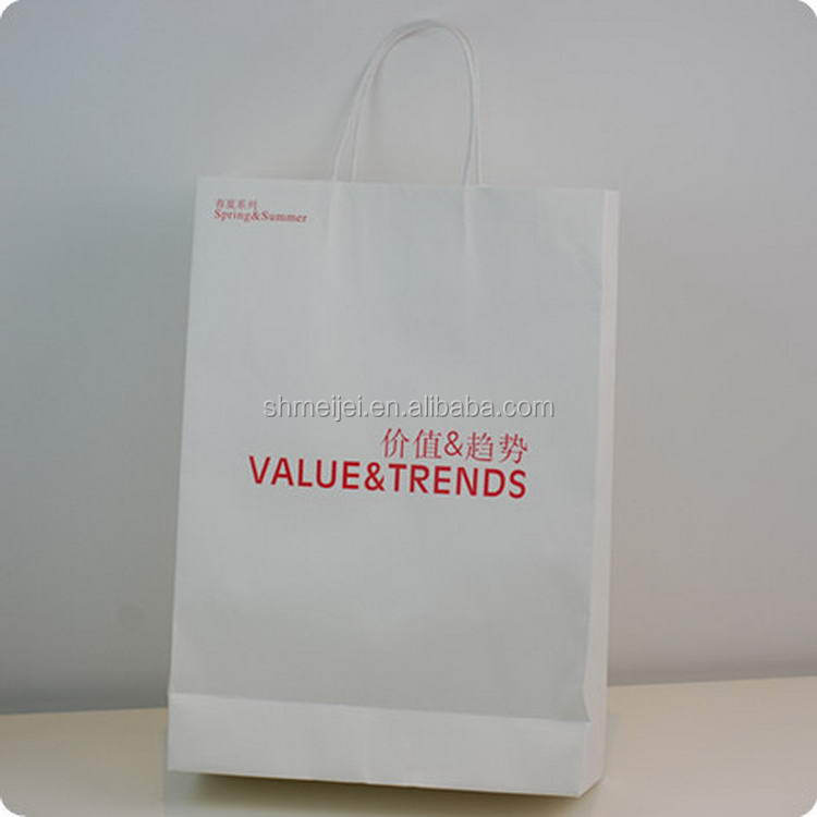 Cost price customized large shiny paper shopping bag