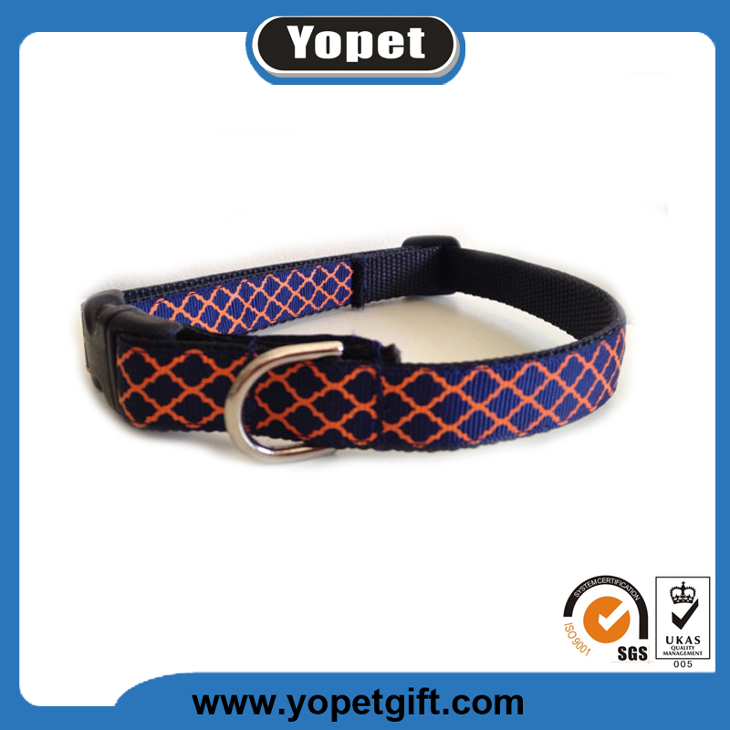 OEM service design your own pet dog nylon dog collar manufacture