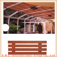 PVC/PE fireproof, waterproof, indoor and outdoor plastic wood composite ceiling in bar shape LG-071