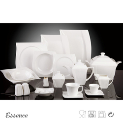 Wholesale chinese luxury white porcelain ceramic tableware