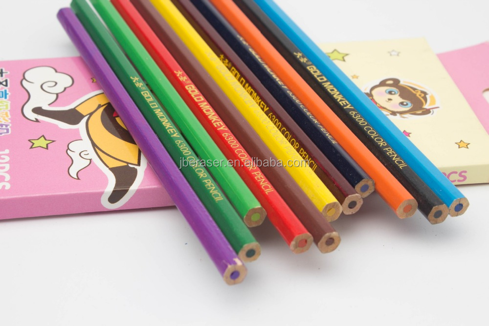 high grade basswood color pencil in paper box packing