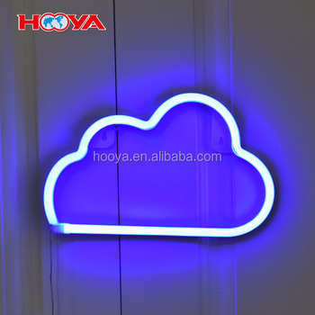 Lovely Cloud Neon Night Light Plastic LED Lamp Lights for Party Wedding Home Decorate