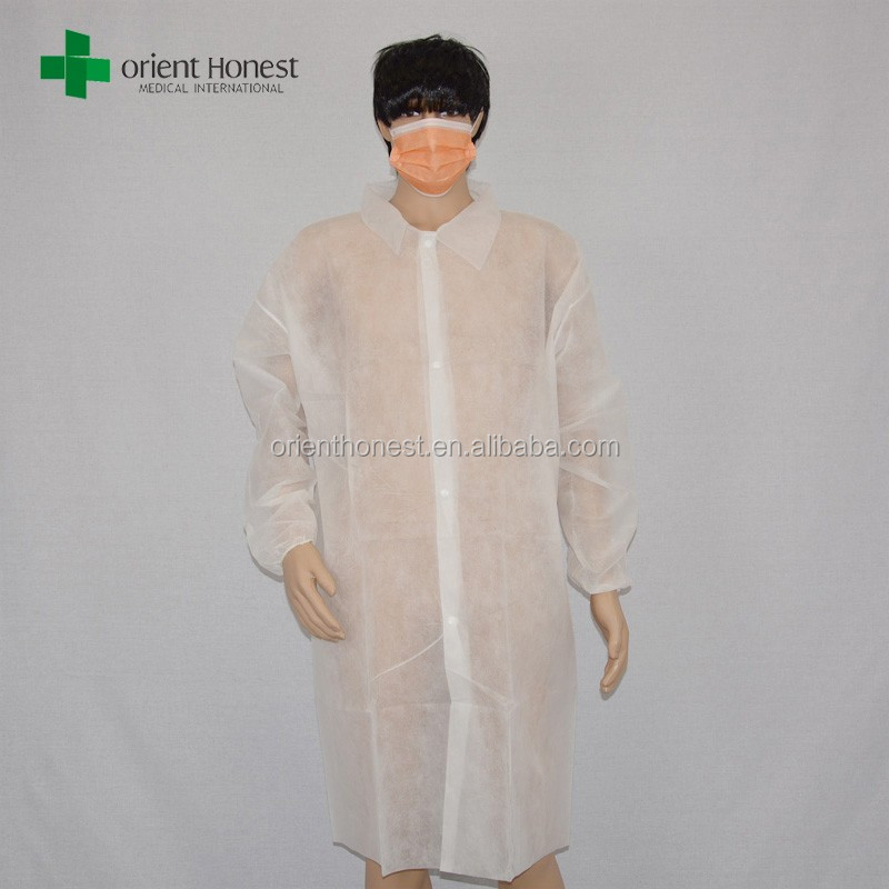 Hubei Xiantao made white nonwoven disposable lab coat for children in good protective