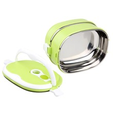 Hot selling Stainless Steel Plastic Combination lunch box with lock / food carrier / tiffin food container