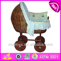 2015 moses wicker doll sleep crib for kids,rattan doll crib toy for children,hot sale rattan doll crib for baby WJ278226