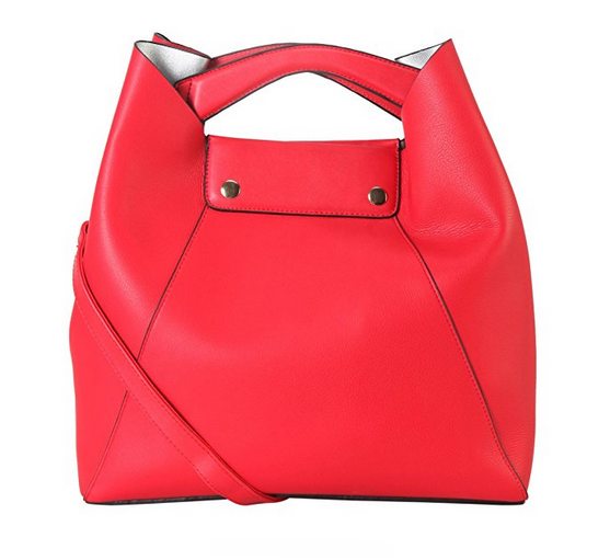 Hot sale red vegan leather women's handbag ladies tote bag purse hand bag