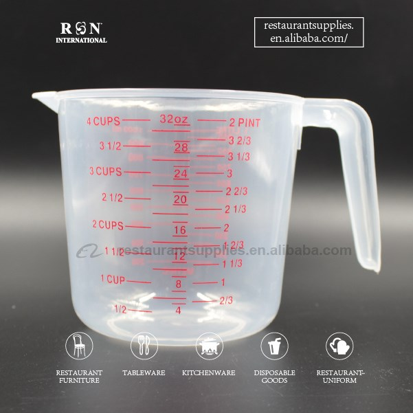 Restaurant Coffee Shop Bar Bakery Used Measure Tool Plastic Beaker Measuring Cup