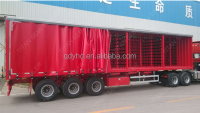 3 axle box van type enclosed cargo semi tractor trailer with Siding Curtain