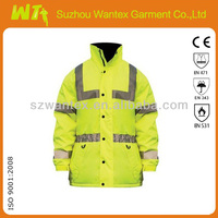 OEM Workwear hi vis jacket polyester oxford waterproof winter jacket garments from China manufacturer