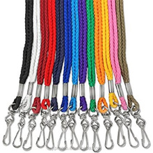 Custom fashionable best sale high quality polyester phone neck strings round tube lanyard