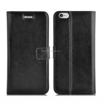 Premium PU wallet flip card storage cover folio stand luxury leather magnetic closure case for iPhone 6/ 6 plus
