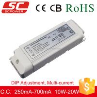 10W-20W DALI DIP adjustment dimmable led driver 700ma ip20 CE RoHs