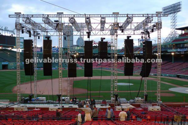 out door sports truss stand, speaker truss, speaker layer truss