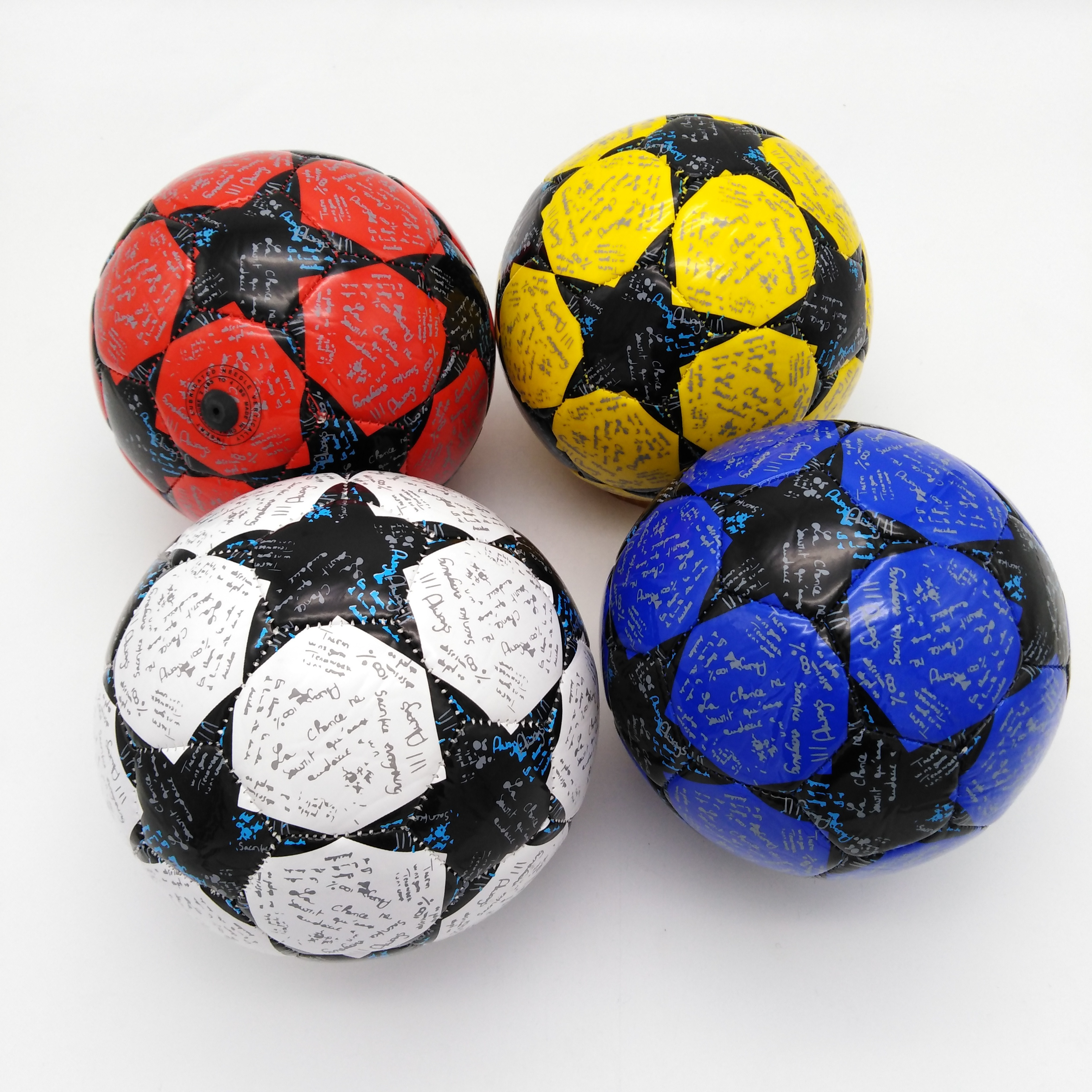 Promotional OEM Custom Mini Football Size 2 Handball PVC Rubber Soccer ball