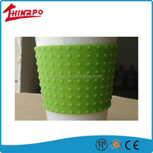 Debossed embossed logo silicone cover Custom silicone sleeve for cups