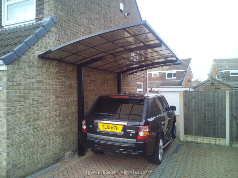 Stylish and luxury aluminum frame driveway cantilever carport