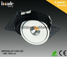 factory supply 15W BRIDGELUX COB LED DOWN LIGHT, HEP DRIVER