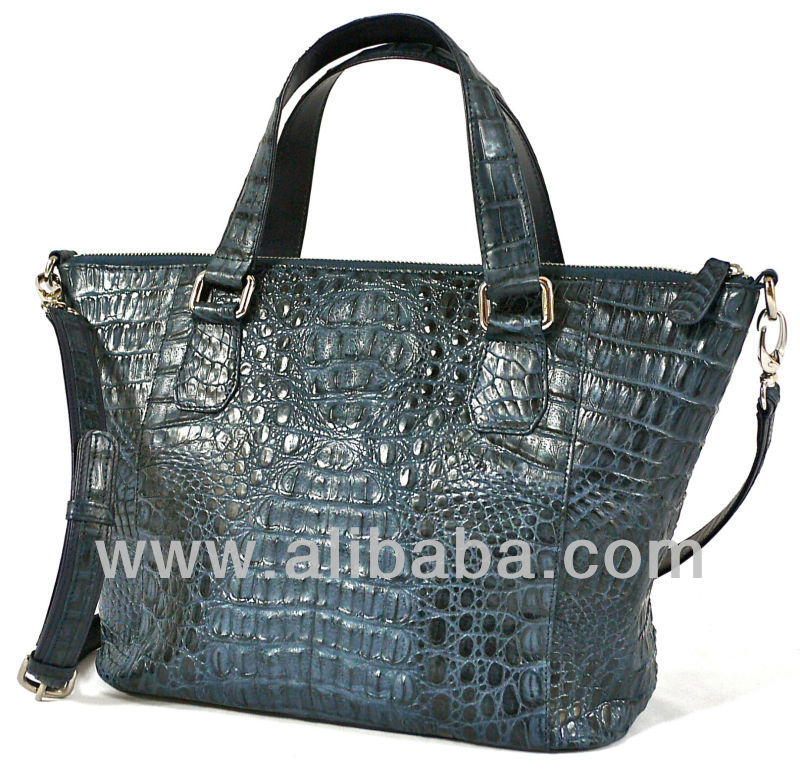 POPPY - 100% Handmade Genuine Exotic Leather Crocodile Skin Women Designer Handbag