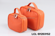 LCL -B1203153 raw cut bi color pvc semi pu cluth envelope cosmetic bag doument holder mini pad pouch
