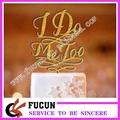 2017 wedding letter I do me too acrylic cake topper wholesale