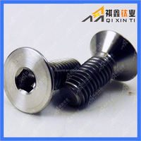 DIN Gr2 Gr5 titanium hex socket cap screw
