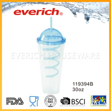 Drinking Heat Resistance Double Wall Plastic Cup(With Water Inside)