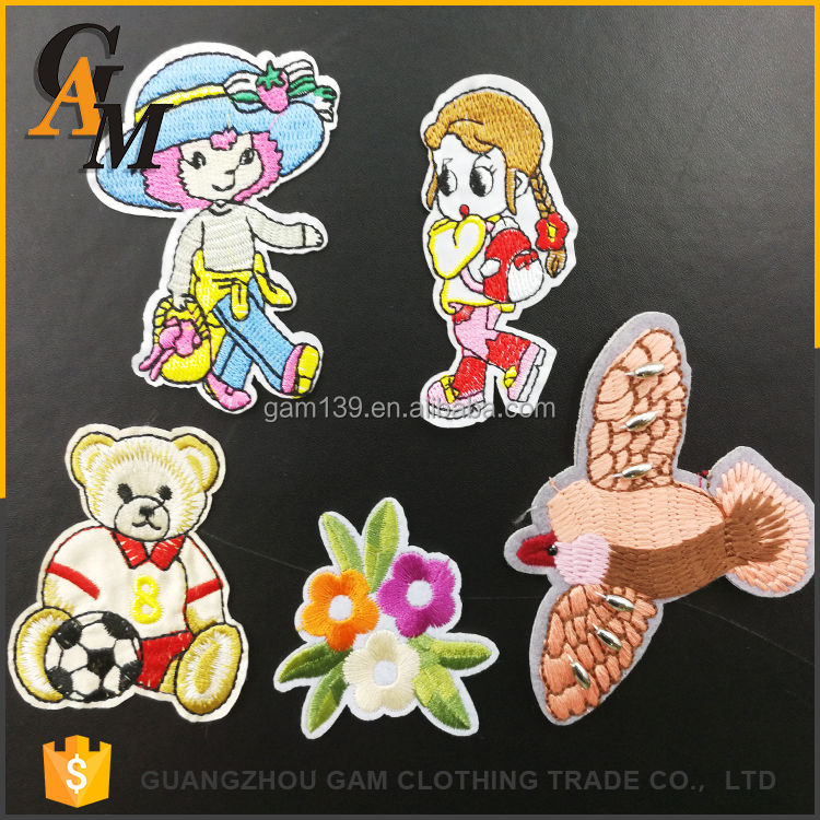 2017 Fashion custom clothing embroidery badge , wholesalecustom kids embroidered patches for sale