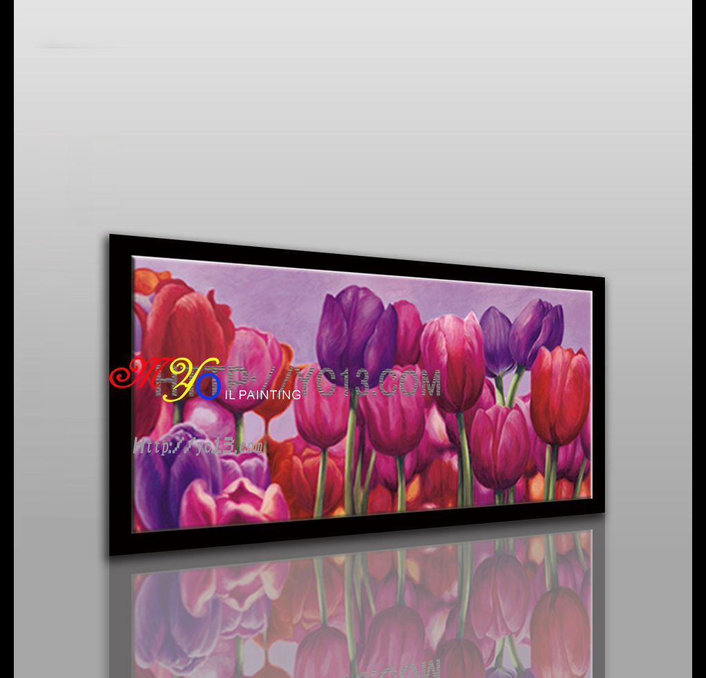 Modern colorful flower home decor wall art oil paintings